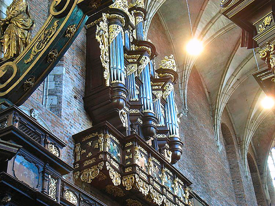 Cracovie Corpus Christi Biernacki L'orgue de choeur